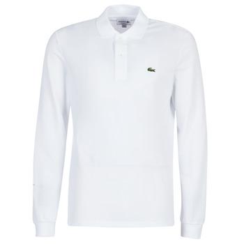 Oblačila Moški Polo majice dolgi rokavi Lacoste L1312 Bela