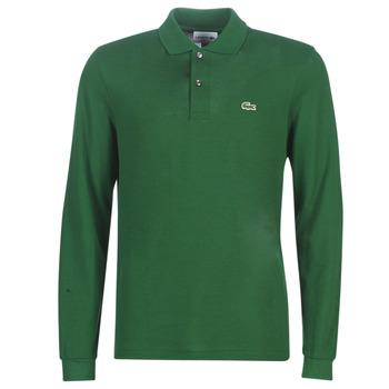 Oblačila Moški Polo majice dolgi rokavi Lacoste L1312 Zelena