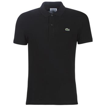 Oblačila Moški Polo majice kratki rokavi Lacoste PH4012 SLIM Črna