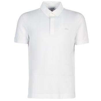 Oblačila Moški Polo majice kratki rokavi Lacoste PARIS POLO REGULAR Bela