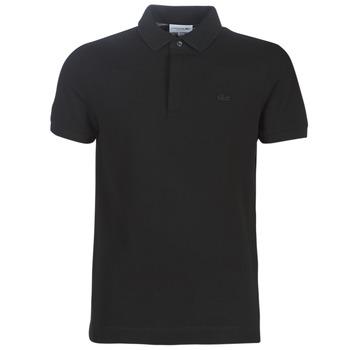 Oblačila Moški Polo majice kratki rokavi Lacoste PARIS POLO REGULAR Črna