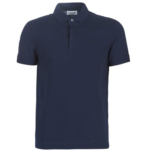 Oblačila Moški Polo majice kratki rokavi Lacoste PARIS POLO REGULAR Modra