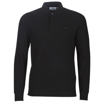 Oblačila Moški Polo majice dolgi rokavi Lacoste PH2481 REGULAR Črna