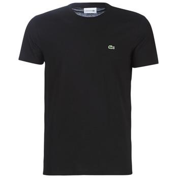Oblačila Moški Majice s kratkimi rokavi Lacoste TH6709 Črna