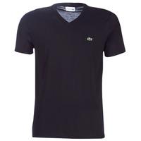 Oblačila Moški Majice s kratkimi rokavi Lacoste TH6710 Črna