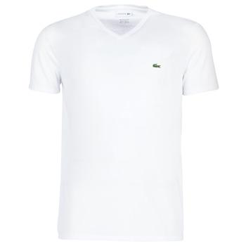 Oblačila Moški Majice s kratkimi rokavi Lacoste TH6710 Bela