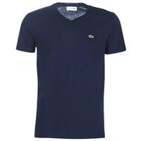 Oblačila Moški Majice s kratkimi rokavi Lacoste TH6710 Modra