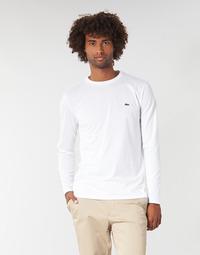Oblačila Moški Majice z dolgimi rokavi Lacoste TH6712 Bela
