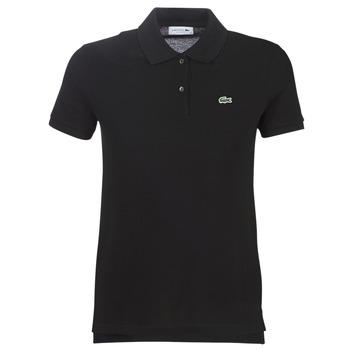 Oblačila Ženske Polo majice kratki rokavi Lacoste PF7839 Črna