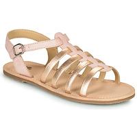 Čevlji  Deklice Sandali & Odprti čevlji Citrouille et Compagnie MAYANA Rožnata / Zlata