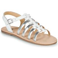 Čevlji  Deklice Sandali & Odprti čevlji Citrouille et Compagnie MAYANA Bela / Srebrna