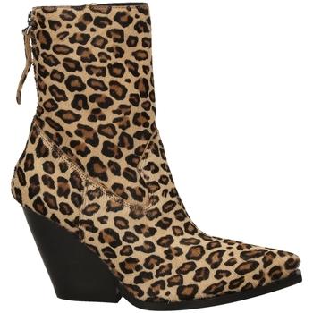 Čevlji  Ženske Gležnjarji Poesie Veneziane CAVALLINO SAFARI leopa-leopardo