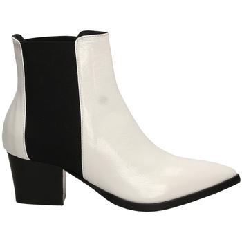 Čevlji  Ženske Gležnjarji Lemaré HARRODS ELASTICO biane-bianco-nero