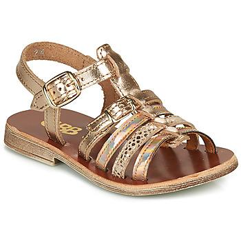 Čevlji  Deklice Sandali & Odprti čevlji GBB BANGKOK Rožnata / Zlata