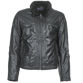 Oblačila Moški Usnjene jakne & Sintetične jakne Teddy Smith BLEATHER Črna