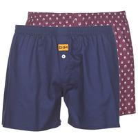 Spodnje perilo Moški Spodnje hlače DIM BOXER FLOTTANT x2 Bordo