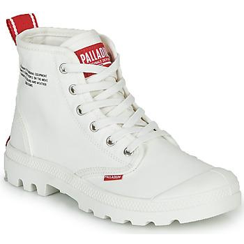 Čevlji  Polškornji Palladium PAMPA HI DU C Bela