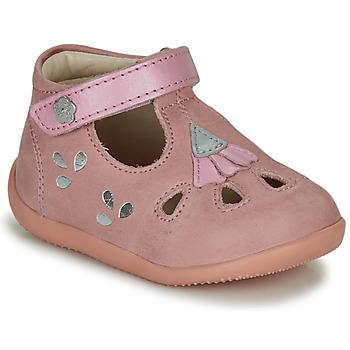 Čevlji  Deklice Sandali & Odprti čevlji Kickers BLUPINKY Rožnata / Srebrna