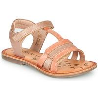 Čevlji  Deklice Sandali & Odprti čevlji Kickers DIAMANTO Rožnata / Oranžna