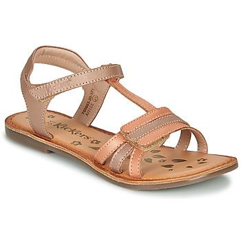 Čevlji  Deklice Sandali & Odprti čevlji Kickers DIAMANTO Oranžna / Rožnata