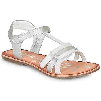 Čevlji  Deklice Sandali & Odprti čevlji Kickers DIAMANTO Bela