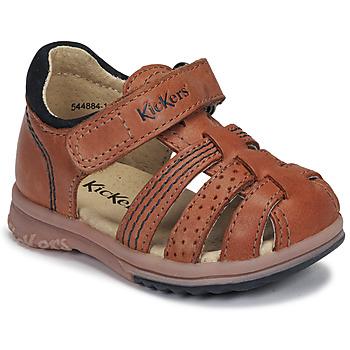 Čevlji  Dečki Sandali & Odprti čevlji Kickers PLATIBACK Kamel