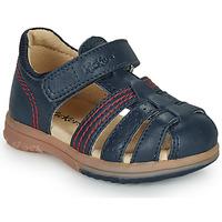Čevlji  Dečki Sandali & Odprti čevlji Kickers PLATIBACK Modra