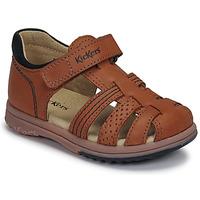 Čevlji  Dečki Sandali & Odprti čevlji Kickers PLATIBACK Kostanjeva