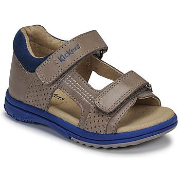Čevlji  Dečki Sandali & Odprti čevlji Kickers PLAZABI Siva / Modra