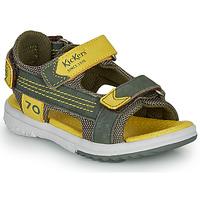 Čevlji  Dečki Sandali & Odprti čevlji Kickers PLANE Kaki / Rumena