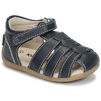 Čevlji  Dečki Sandali & Odprti čevlji Kickers BIGFLO-3 Modra