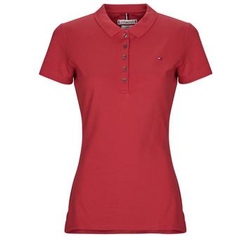 Oblačila Ženske Polo majice kratki rokavi Tommy Hilfiger NEW CHIARA Rdeča