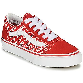 Čevlji  Otroci Nizke superge Vans Old Skool Rdeča / Bela