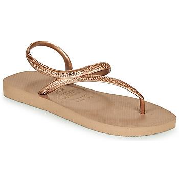 Čevlji  Ženske Japonke Havaianas FLASH URBAN Rožnata / Pozlačena