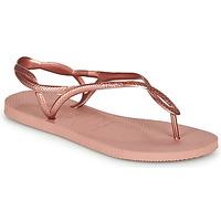 Čevlji  Ženske Japonke Havaianas LUNA Rožnata / Pozlačena
