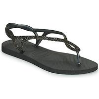 Čevlji  Ženske Japonke Havaianas LUNA PREMIUM Črna