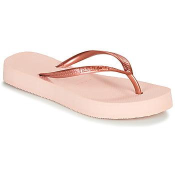 Čevlji  Ženske Japonke Havaianas SLIM FLATFORM BALLET / Rožnata