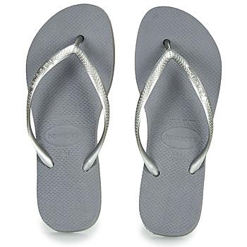 Čevlji  Ženske Japonke Havaianas SLIM FLATFORM Siva