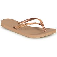 Čevlji  Ženske Japonke Havaianas SLIM GLITTER Rožnata / Zlata