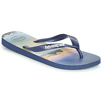 Čevlji  Moški Japonke Havaianas HYPE Modra