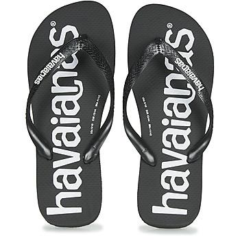 Čevlji  Moški Japonke Havaianas TOP LOGOMANIA Črna