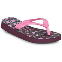 Čevlji  Deklice Japonke Havaianas KIDS FLORES Lilková