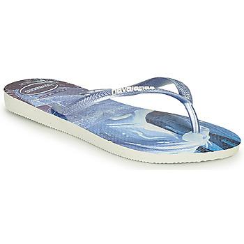 Čevlji  Deklice Japonke Havaianas KIDS SLIM FROZEN Modra