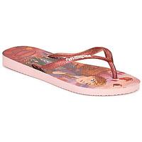 Čevlji  Deklice Japonke Havaianas KIDS SLIM FROZEN Rožnata