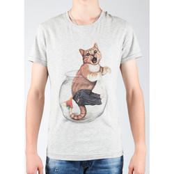 Oblačila Moški Majice & Polo majice Wrangler Light Grey Mel W7940IS03 grey