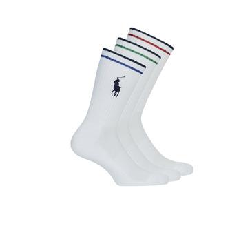 Dodatki  Moški Nogavice Polo Ralph Lauren 3PK BPP-SOCKS-3 PACK Bela