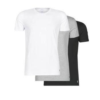 Oblačila Moški Majice s kratkimi rokavi Polo Ralph Lauren WHITE/BLACK/ANDOVER HTHR pack de