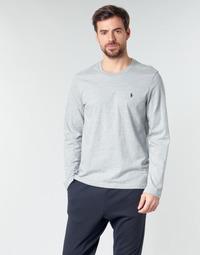 Oblačila Moški Majice z dolgimi rokavi Polo Ralph Lauren L/S CREW-CREW-SLEEP TOP Siva