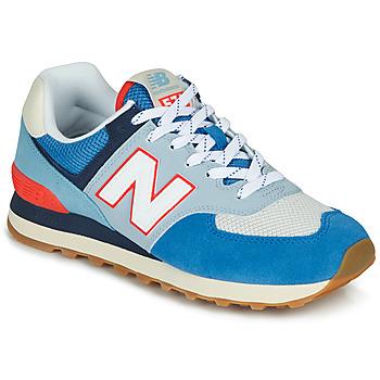 Čevlji  Nizke superge New Balance 574 Modrá / Siva / Oranžna