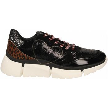 Čevlji  Ženske Nizke superge Nira Rubens STINGER RUNNING CUORE GLAM DARK nero-leopard